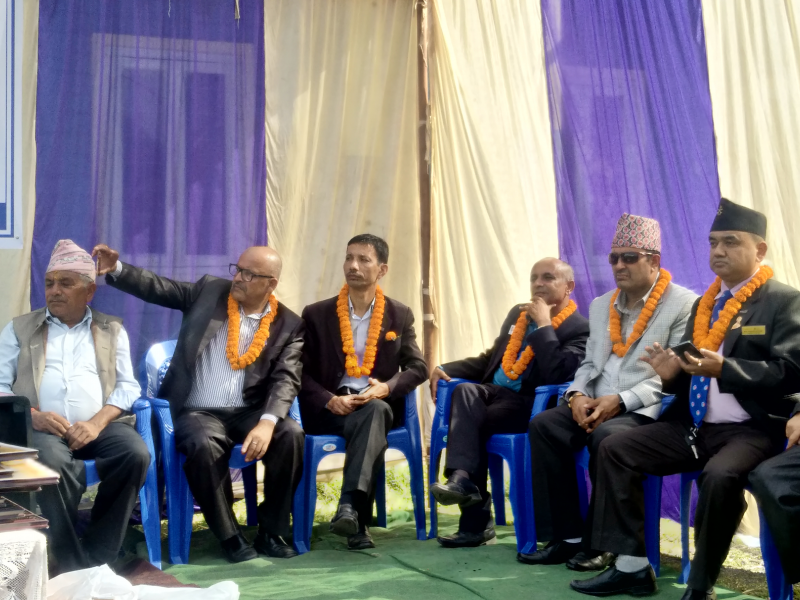 Area Rotarians at Bharatpokhari